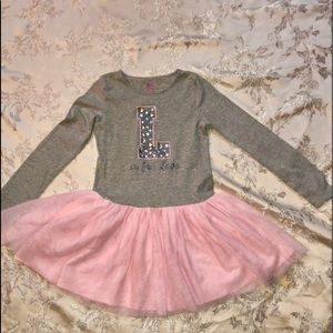 Children's Place Long Sleeved Tutu Dress. Size 7/8